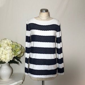 Tommy Hilfiger Women's Stripe Knit Top Sweater